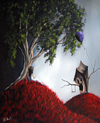 Swing Art Paintings - Shes Just An Illusion by Shawna Erback by Shawna Erback