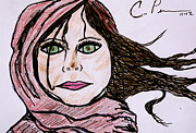 Popart Drawings Prints - Shes Like the Wind Print by Chrissy  Pena