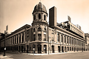 Philadelphia Phillies Stadium Framed Prints - Shibe Park  Framed Print by Bill Cannon