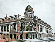 Connie Mack Digital Art Prints - Shibe Park Print by John Madison