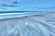 Storm Prints Prints - Shifting Sands on Frisco Beach Outer Banks II Print by Dan Carmichael