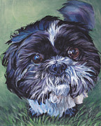 Dog Art Paintings - Shih Tzu by Lee Ann Shepard