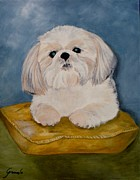 Rust Paintings - Shihtzu by Graciela Castro