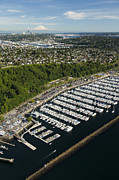 Shilshole Bay Marina On Puget Sound Print by Andrew Buchanan/SLP
