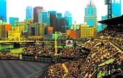 Pittsburgh Pirates Posters - Shimmering city Poster by Erica Michelle