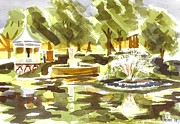 Gazebo Painting Prints - Shimmering Light Print by Kip DeVore