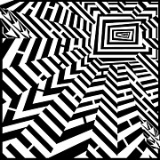 Shine Drawings - Shine Bright Maze  by Yonatan Frimer Maze Artist