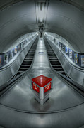 Metro Photo Metal Prints - Shine In Silver Metal Print by Evelina Kremsdorf