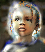 African Child Prints - Shine On Me Print by Bob Salo
