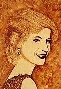 Princess Diana Posters - Shining Diana Princess coffee painting Poster by Georgeta  Blanaru