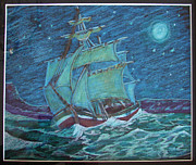 Ship At Sea Print by Joseph Hawkins