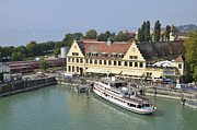 Pleasure Photos - Ship in the Lindau harbor Lake Constance Germany by Matthias Hauser