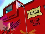 Old Caboose Posters - Ship It On The Frisco Poster by Deena Stoddard