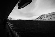Observation Photos - Ship Sailing Through Fjords During Winter Norway by Joe Fox