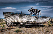 Trawler Metal Prints - Ship shape Dungeness style Metal Print by Ian Hufton