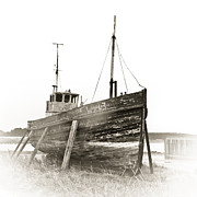 Wooden Ship Framed Prints - Ship wreck Framed Print by Tom Gowanlock