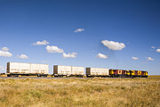 Diesel Prints - Shipping Containers on the Move by Train Print by Colin and Linda McKie