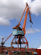 Grapple Framed Prints - Shipping Industry Crane 06 Framed Print by Antony McAulay