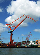 Grapple Framed Prints - Shipping Industry Crane 07 Framed Print by Antony McAulay