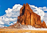 Nadine and Bob Johnston - Shiprock And Clouds
