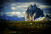 Northwestern Indian Prints - Shiprock Mountain Beckons Print by Gary Cain