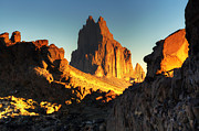 Unusual Landscape Posters - Shiprock New Mexico Poster by Bob Christopher