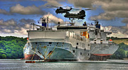 Helicopter Prints - Ships n choppers  Print by Rob Hawkins