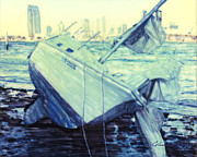 Shipwreck Mixed Media - Shipwreck After The Storm  by Glenn McNary