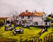 Paul Mitchell Art - Shipwright Arms Oare Creek by Paul Mitchell