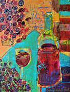 Wine Bottle Paintings - Shiraz by Filomena Booth