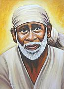 Baba Paintings - Shirdi Sai Baba by Gayle Utter