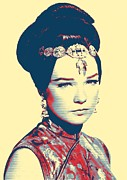 Bun Mixed Media Posters - Shirley MacLaine in Gambit Poster by Art Cinema Gallery