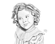Shirley Temple Posters - Shirley Temple Poster by Elizabeth Fortune
