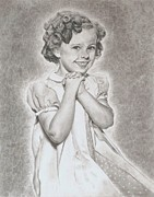 Shirley Temple Posters - Shirley Temple  Poster by Jessica Hallberg