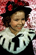 Orlando Framed Prints - Shirley Temple Painting Framed Print by Sanely Great