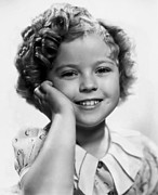 Movies Photo Framed Prints - Shirley Temple Portrait Framed Print by Sanely Great
