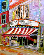 Store Fronts Paintings - Shirleys Schwartzs  by Michael Litvack