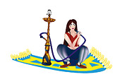 Ghost Story Digital Art Prints - Shisha Girl Print by Regina Koch