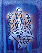 Stencil Art Paintings - Shiva 2 by Tony B Conscious