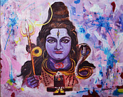 Universal Painting Framed Prints - Shiva Framed Print by Souma Deb