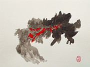 Combustion Painting Prints - Shizen Hakka Print by Pg Reproductions