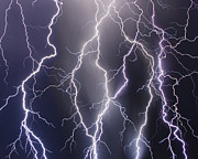 Lightning  Photographer Metal Prints - Shocking Texture Metal Print by Ryan Smith