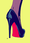 Pop Drawings Framed Prints - Shoe Framed Print by Giuseppe Cristiano