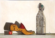 Antiques Paintings - Shoe Mold and Bottle by Lee Bianco