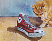 Tennis Painting Prints - Shoe Snack Print by Marie Stone Van Vuuren