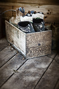 Apparel Metal Prints - Shoebox Still Life Metal Print by Tom Mc Nemar