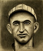 Chicago Baseball Drawings - Shoeless Joe by Alan Conder