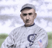 Hitter Posters - Shoeless Joe Poster by Steve Dininno
