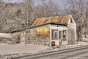 Rusted Tin Roof Photos - Shoemakers Garage by Benanne Stiens