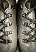 Handcrafted Metal Prints - Shoes Metal Print by Frank Tschakert